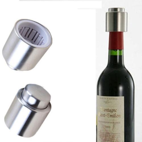 Stainless Steel Red Wine Vacuum Sealed Wine Storage Bottle Stopper Plug Cap Cork
