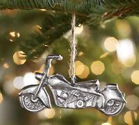Pottery Barn Christmas Travel Metal Motorcycle Old Fashion Bike Ornament