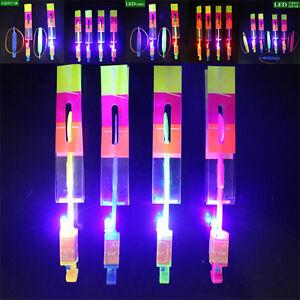 Image Is Loading 10pcs Flying Rotating Rocket Helicopter Flash Led Light