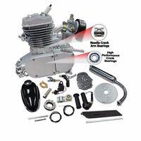 80cc 2-stroke Cycle Silver Motor Bike Muffler Motorized Engine Gas Kit Au Sell