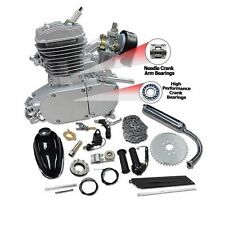 silver 2-Stroke 80cc Motor Engine Gas For Motorized Bicycle Cycle Push Bike Kit