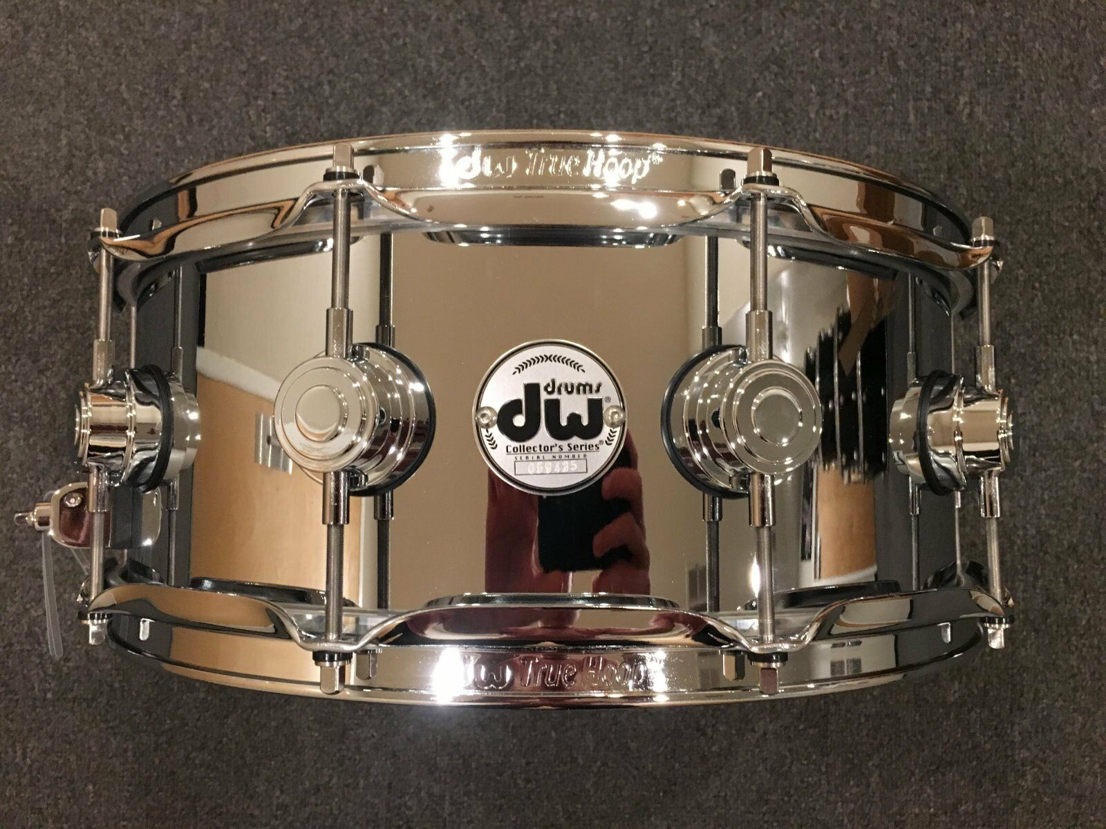 DW Collector's Series 5.5x14 Steel Chrome Polished Snare w Chrome Hardware