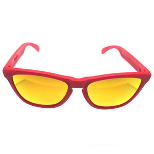 1ce03bbfcc Image is loading OAKLEY-Frogskins-OO9013-48-55mm-Sunglasses-Matte-Red-