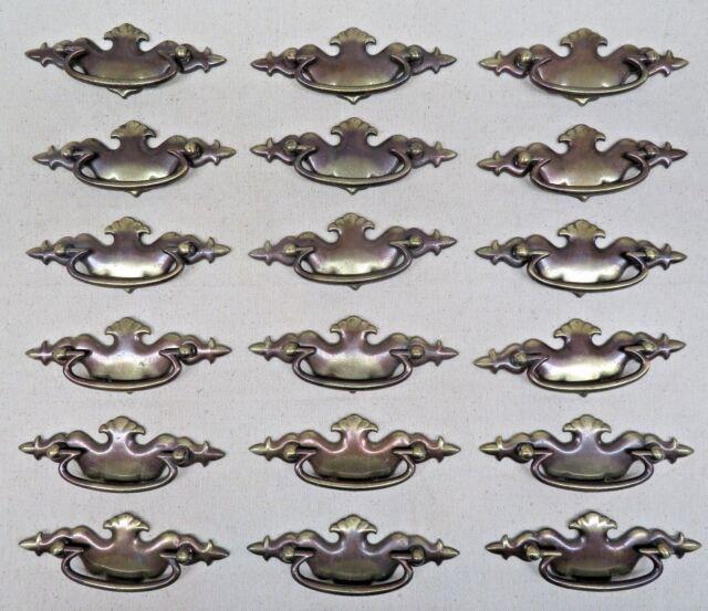 DRAWER Pull Vintage Keeler Brass Solid ORNATE Furniture Handle KBC
