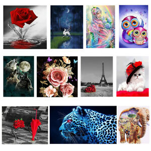5D-DIY-Diamond-Painting-Flower-Animal-Embroidery-Cross-Crafts-Stitch-Home-Decor