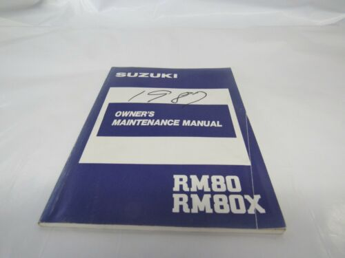 GENUINE Suzuki 1987 RM80 RM80X Owner/'s Maintenance Manual 99011-02B21-03A