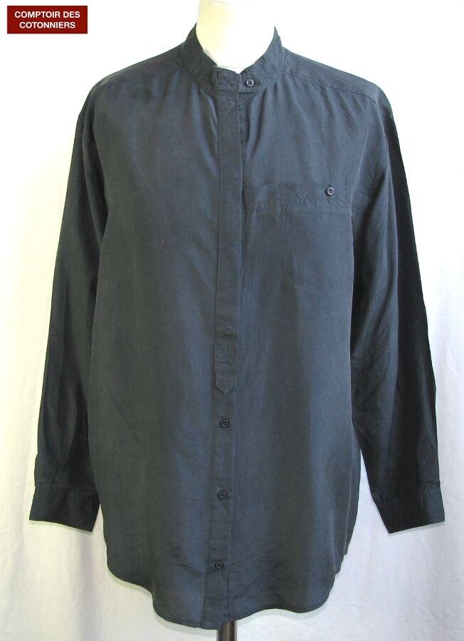 Comptoir Des Cotonniers - Blouse Model Inca Silk Grey Dark T 1 = 36 -