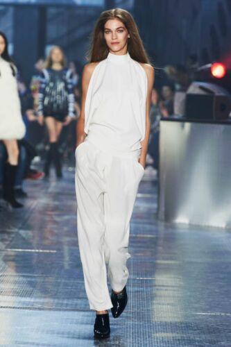 H/&M STUDIO COLLECTION Off Bianco in Raso Pantaloni Pants UK 12 38 EUR