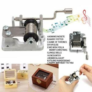 Mini Hand Cranking Music Movement Mechanism Windup Music Box Collectibles
