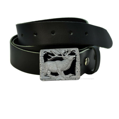 Hirsch motif chasse Wildlife Buckle Boucle de ceinture Foerster Jaeger 041