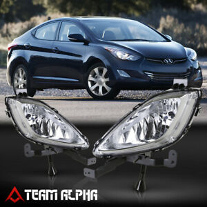 details about fits 2011 2013 hyundai elantra[clear]bumper fog light lamp w switch wire harness  pair front bumper fog light lamps