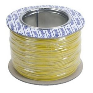 Model Railway/Railroad Layout/Point Motor etc Wire 100m Roll 7/0.2mm 1.4A Yellow