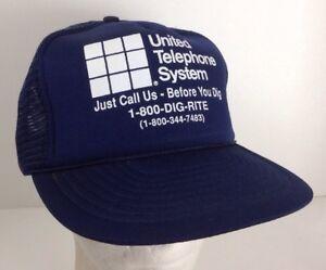 Image is loading Vintage-United-Telephone-System-Trucker-Snapback-Hat-Cap- 69ef406d4ca