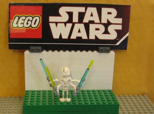 "STAR WARS LEGO LOT  MINIFIGURE  MINI FIG  /""  GENERAL GRIEVOUS W// LIGHT SABERS /"""