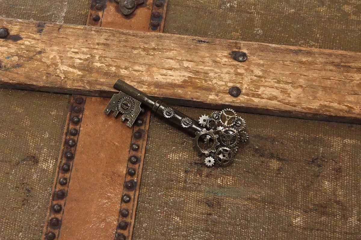 Steampunk Large Gear Key Pin Costume Jewelry Adult One Size