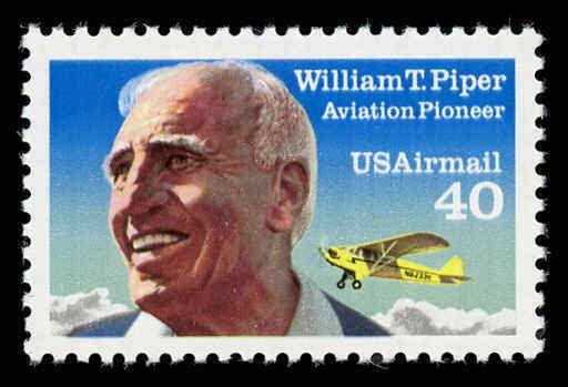 1993 40c William T. Piper, Aviation Pioneer Scott C132