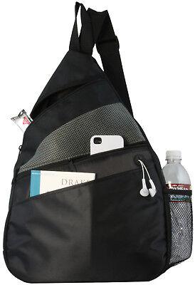 Ensign Peak Black Padded Tablet Sling Backpack