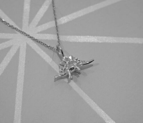 Stunning 925 Sterling Silver Stegosaurus Dinosaur Pendant Necklace