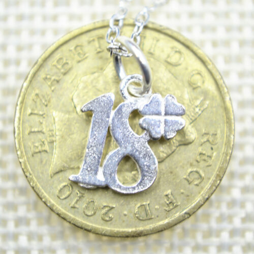 """Solid 925 Sterling Silver Small Cute Charm Pendant 17.7/"""" Chain Necklace Gift"""