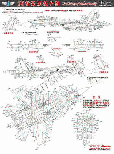 Su-27//Su-30//J-11 decals Frontpenny Decal 1//48 Flankers Family in China