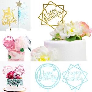 Hot-Acrylic-Cupcake-Insert-Cake-Topper-Decor-Happy-Birthday-Party-Supply