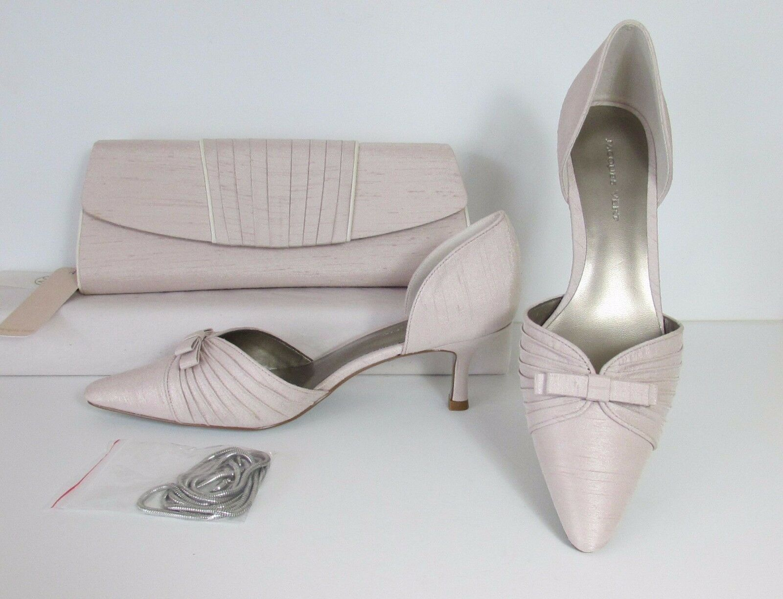 Jacques Vert Champagne and Court Schuhes and Champagne Matching Bag  NEW     6 & 7 (MB 58fe5d