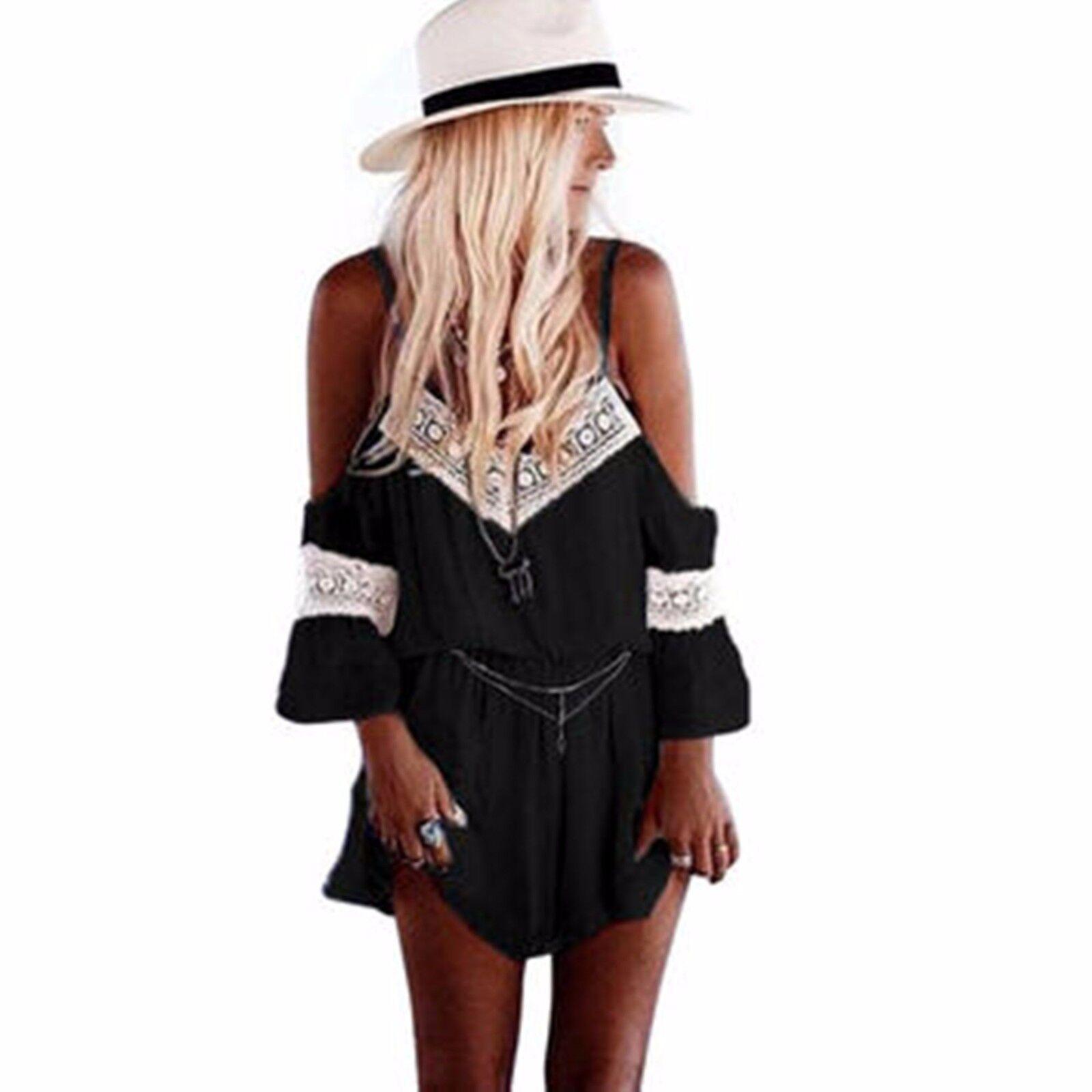 39c2a189fde Details about UK Summer Womens Holiday Mini Playsuit Ladies Jumpsuit Beach  Shorts Mini Dress