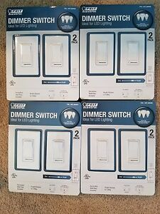 Eight (8) Feit Electric LED Dimmer Switch (4) X 2 Pack - NEW IN PACKAGE