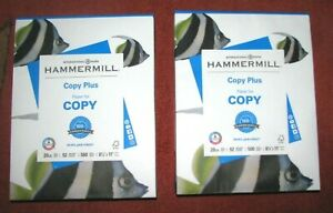 "(2) HAMMERMILL ""Copy Plus"" Paper (500 Sheets each) 8.5"" x 11"" Bright White"