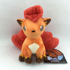 "Vulpix Pokemon Six Tails Kitsune Fox Plush Toy Stuffed Animal Soft Orange New 7"""