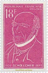 EBS-France-1957-Victor-Sch-lcher-1804-1893-AntiSlavery-campaign-YT-1092-MNH