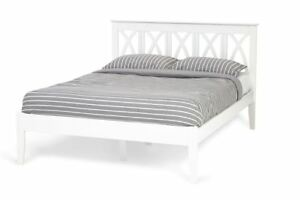 Autumn 4ft Small Double Bed Frame Sustainable Hevea Wood In Opal