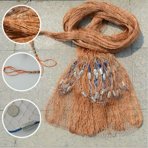 "8FT 2.4m Strong Nylon Mesh Fishing Net Bait Easy Throw Hand Casting 3//4/"" w//"