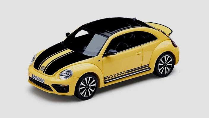 Wonderful PR-modelcar VW BEETLE GSR 2015 - sunflower yellow - 1 43