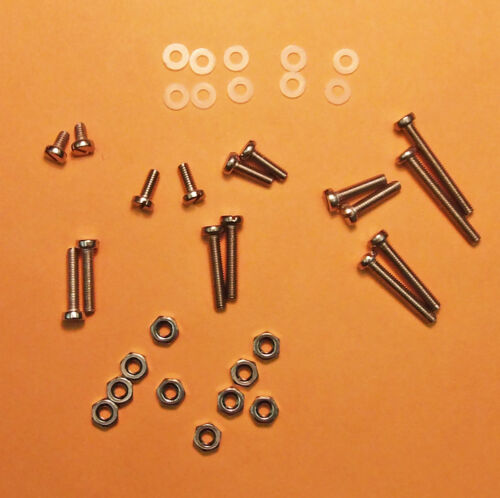 Turntable Cartridge HEADSHELL Hardware Screws Washers Nuts 36 pieces New S.S