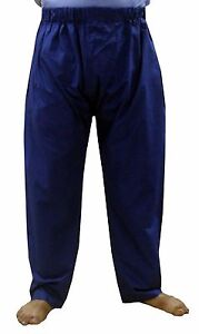 Indian 100/% Cotton Men/'s Pajama Pant Baggie Trouser Loose Fit White Plain Solid