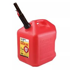 Gas Can 5 Gallon With Flame Shield Plastic Gasoline Quick Flow Spout Anti Spills