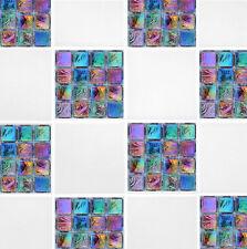 "4 ""x 4"" Arco Iris Mosaico Auto Adhesivo De Transferencia Stickers Baño Cocina"