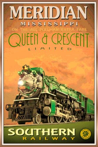 Meridian MS QUEEN /& CRESCENT LTD Poster Southern Railway Train Art Print 228