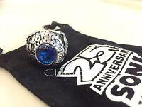 Sonic The Hedgehog 25th Anniversary Ring Blue Cubic Zirconia Sega - Han Cholo