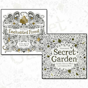 Image Is Loading Johanna Basford Collection Secret Garden Amp Enchanted Forest