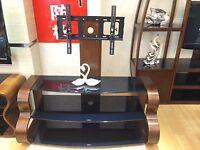 Solid Wood Designer Tv Stand Cabinet With Tv Bracket 32 65 B Shape