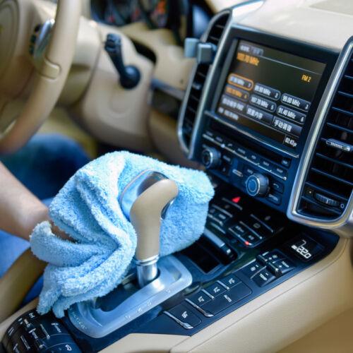 "12Pcs Microfiber Towel Edgeless Lint Scratch Free Cleaning 16/""x16/"" Blue"