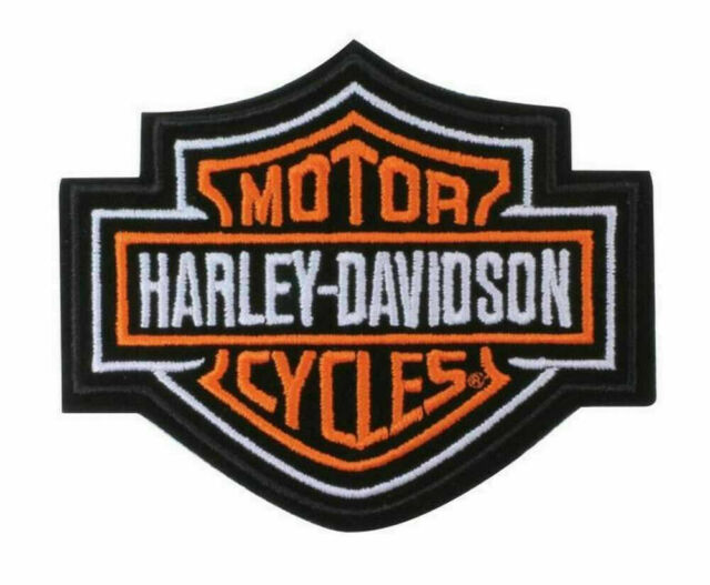 Patch Iron-On Harley-Davidson Motorcycle Logo Patriotic Number 1 Embroidery