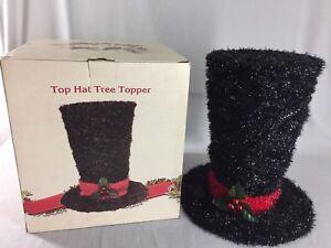 Image Is Loading Cracker Barrel Top Hat Tree Topper Large 16
