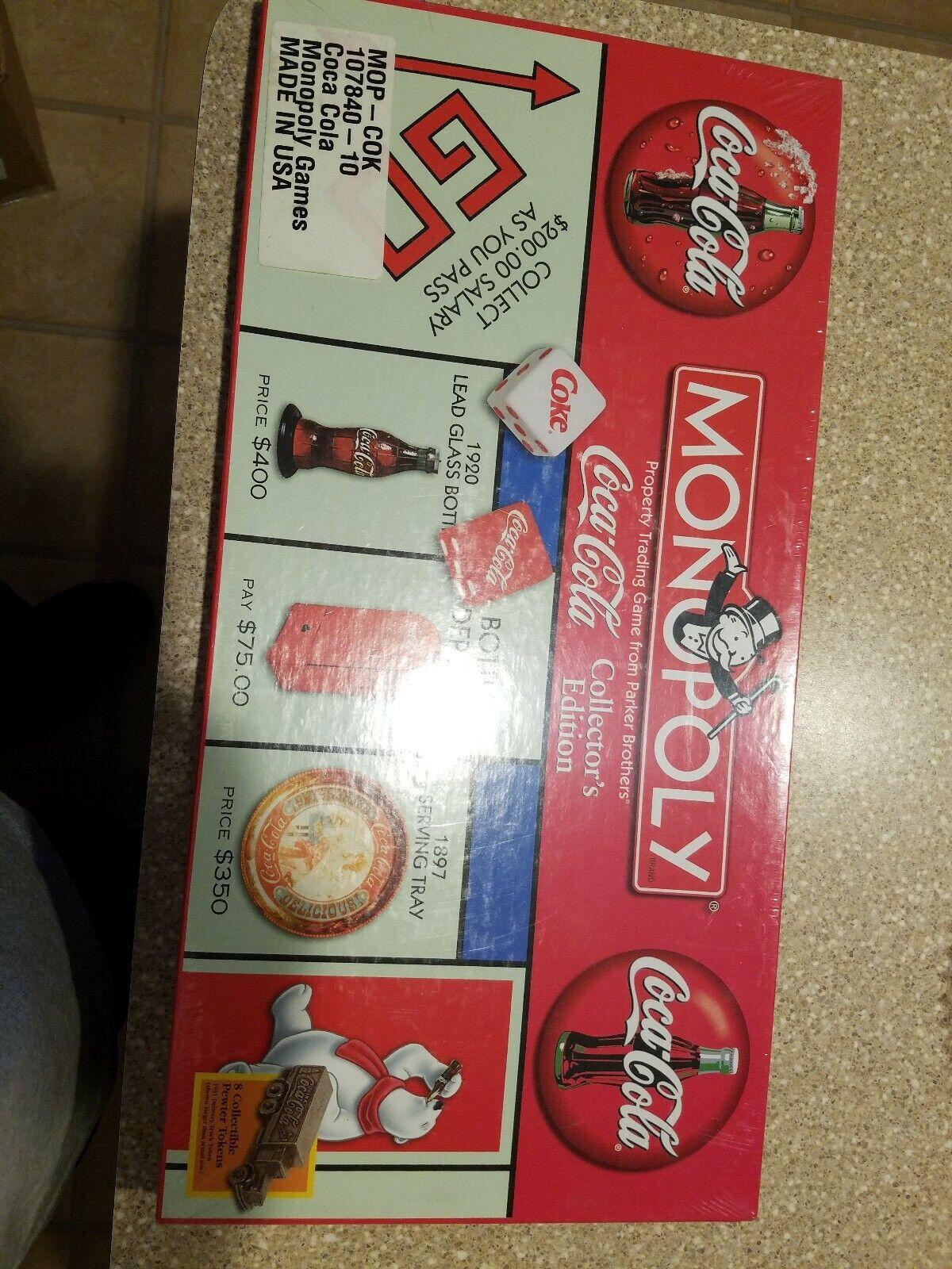 Coca -Cola Monopol Board spel NIB förseglad samlaor s utgåva