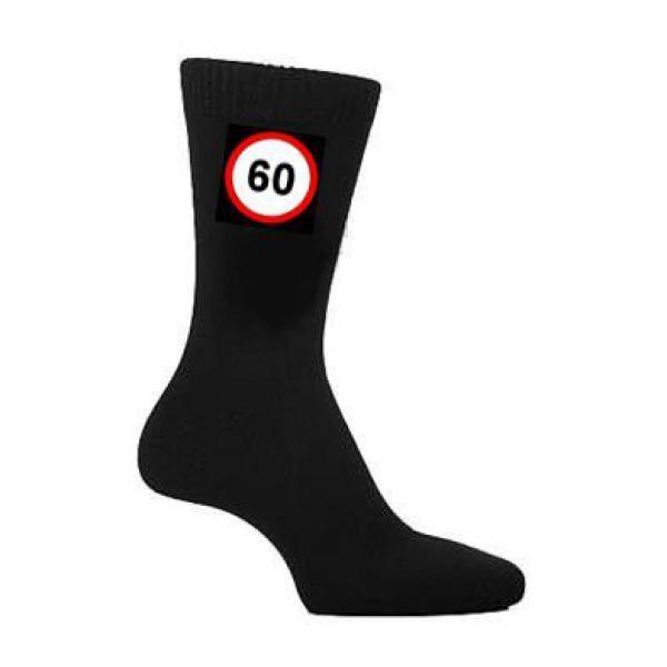 60 mph route SIGNE Chaussettes Homme Noir Chaussettes SIGNE 60e soixantième anniversaire cadeau soixante 96fe89