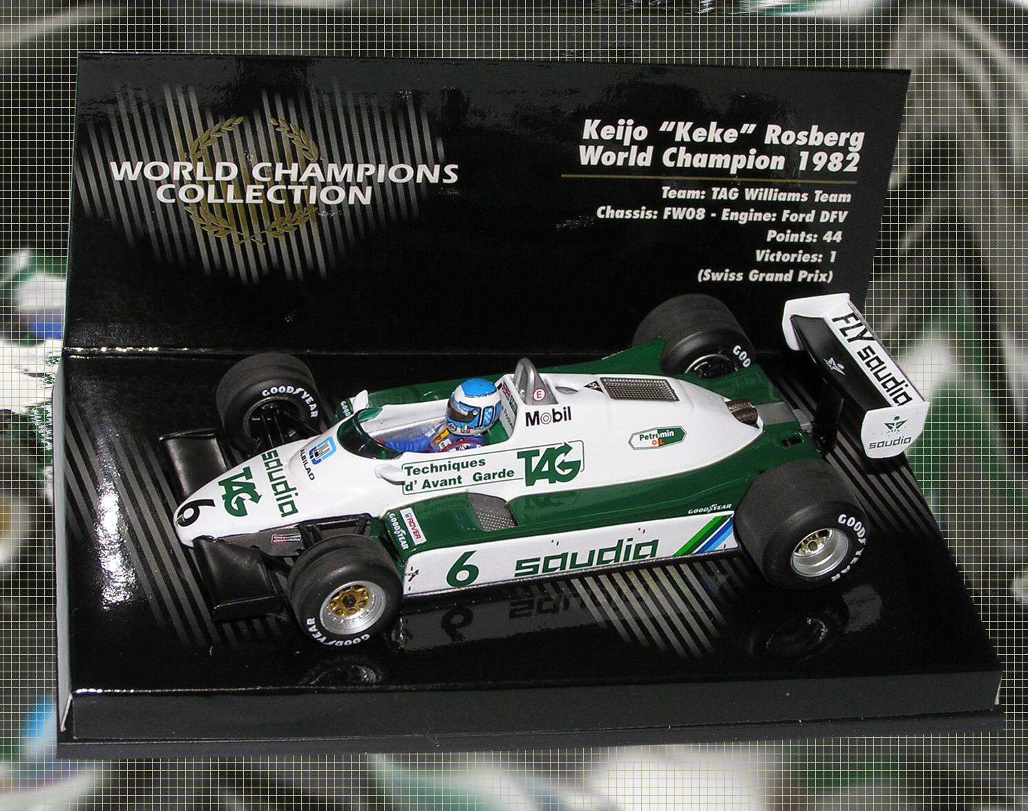 1 43 Minichamps Williams FW08 Keke Rosberg 1982 World Champions Collection NEW
