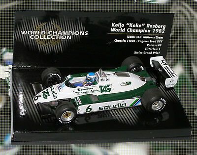 Minichamps Williams fw08 1982-Keke Rosberg 1982 World Champion 1//43 Escala
