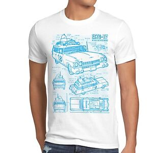 ECTO-1 Blaupause Herren T-Shirt busters geisterjäger ghost slimer ...